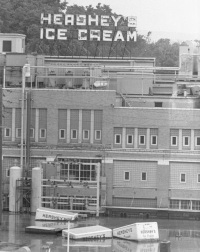 The Hershey Ice Cream manufacturing plant on Cameron Street.