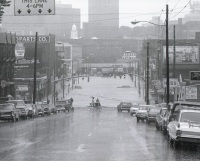 A view from Allison Hill down to the intersection of Market and Cameron Streets.