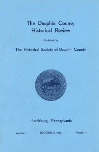 Dauphin County Historical Review, December 1952