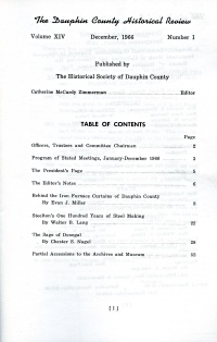 Dauphin County Historical Review, December 1966