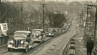 Farm Show Traffic on Maclay Street, 1940s
