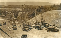 Constructing Route 22 Bypass, 1930s