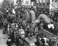 Balloon Parade on Market Street, 1940's