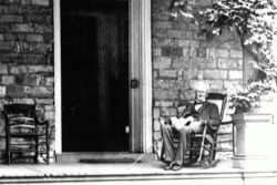 Cameron on the Porch in his Later Years